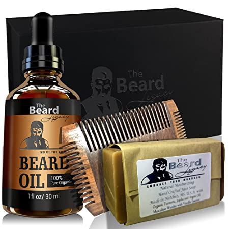 Hair Care & Styling Hand Crafted Caveman® Beard Oil Beard Conditioner Free Wooden Beard Comb Caveman Easy To Lubricate Aftershave & Pre-shave