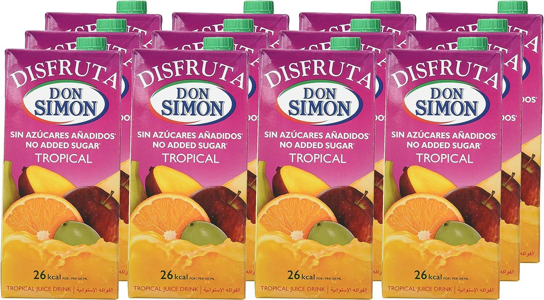 Don Simón - Disfruta Tropical Zumo - Pack de 12 Bricks x 1 L ...