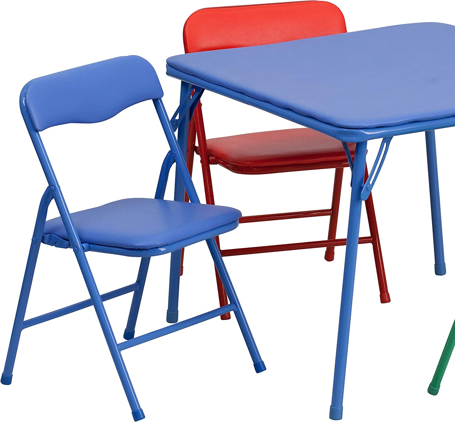 - Flash Furniture Kids Colorful 5 Piece Folding Table And Chair Set