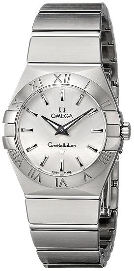 Omega 123.10.27.60.02.001 - Reloj de Pulsera Mujer, Acero Inoxidable, Color