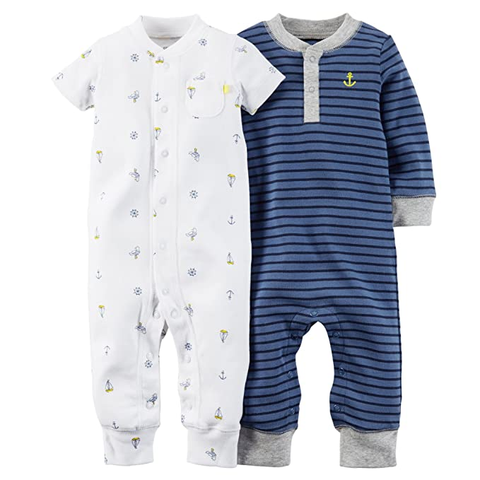 a1ba5742d Amazon.com  Carters 2-Pack Jumpsuits (NB)  Clothing