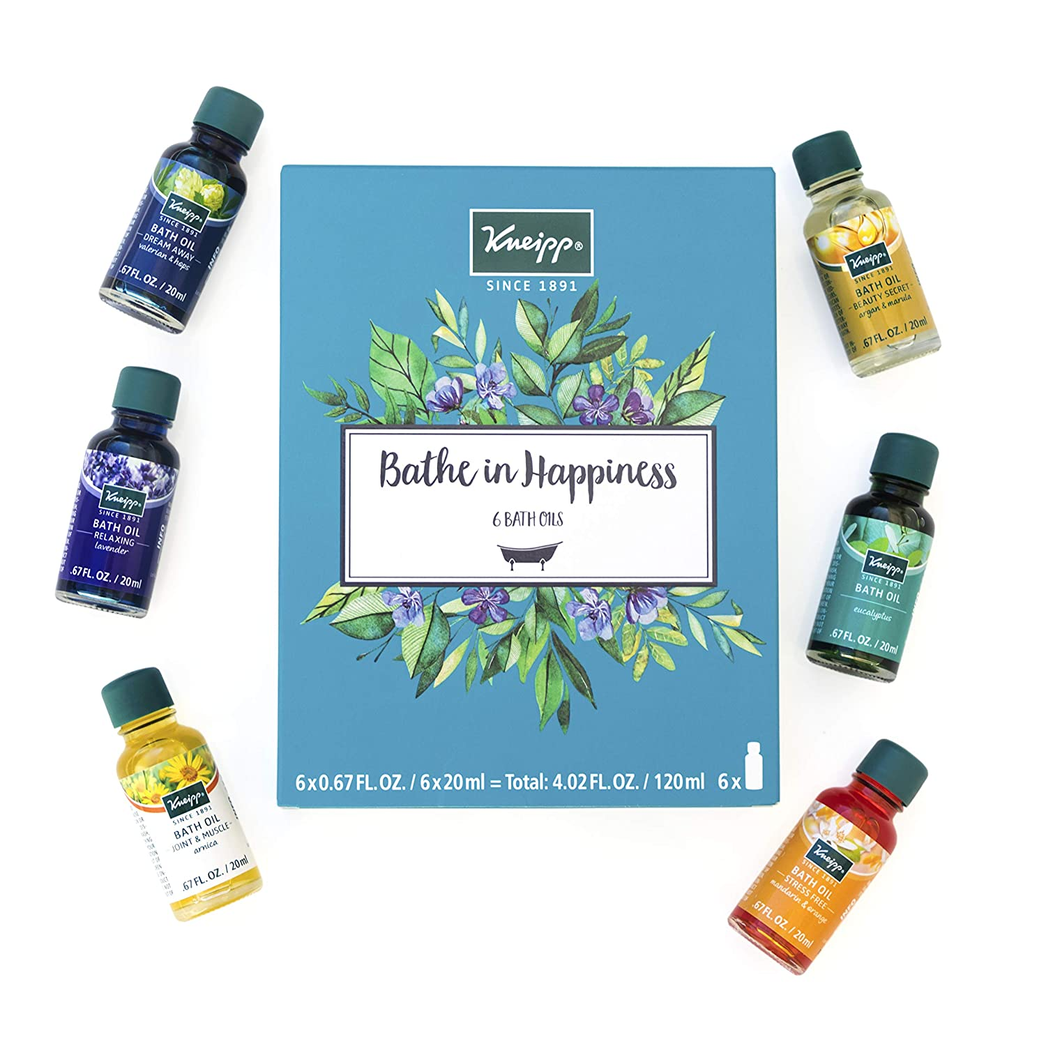 Kneipp 6 Piece Herbal Bath Oil Set, 6 x 20 Milliliter Bottles : Bath And Shower Product Sets : Beauty