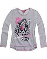 Monster High Fille Tee-shirt manches longues : Fangs are fantastic - gris