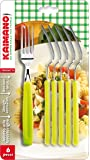 Kaimano KDN760106E Dinamik 6 Forchette, Verde Acido
