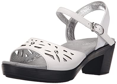 Alegria Womens Reese White Butter Sandal  35