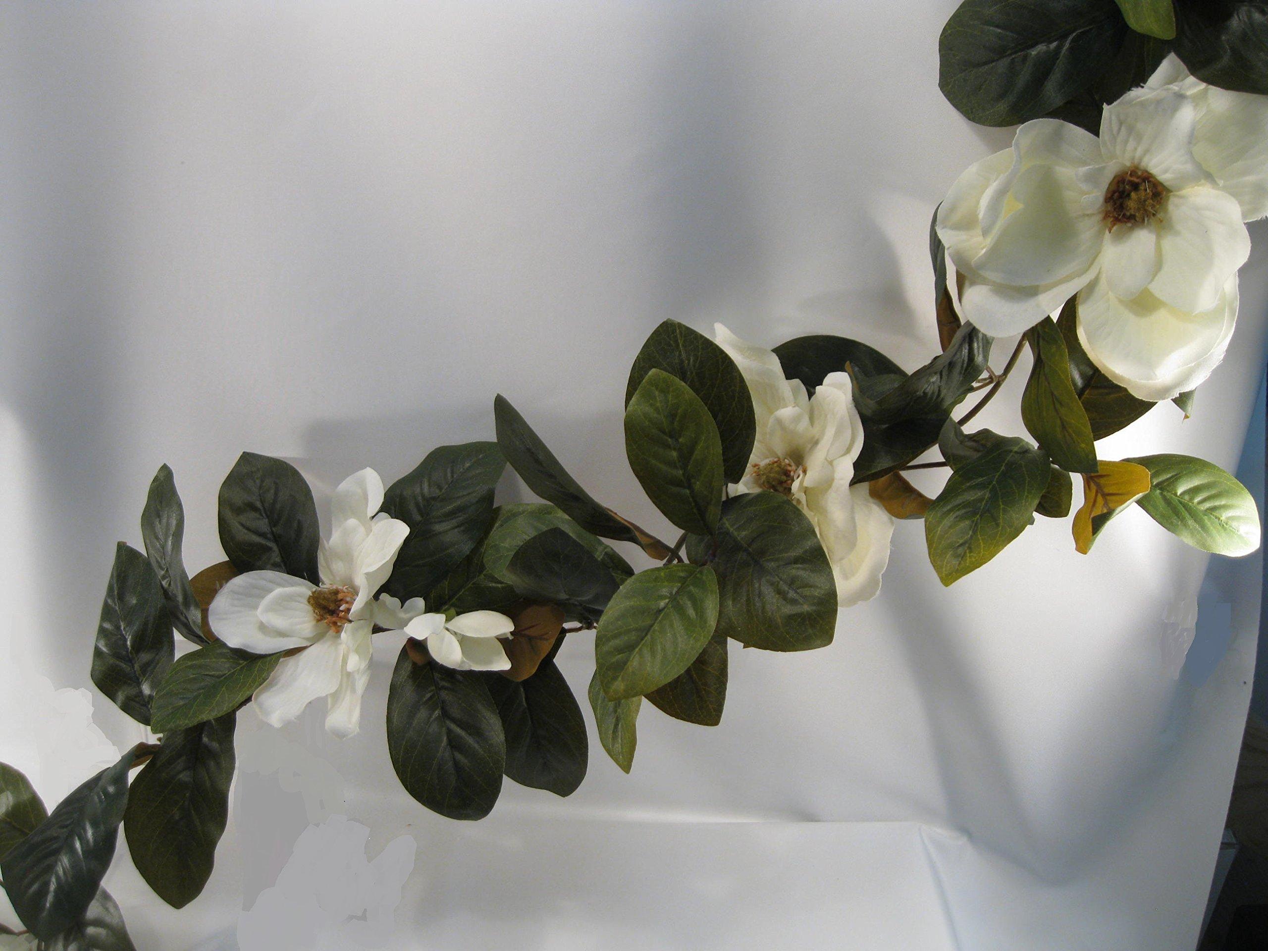 Magnolia Blossom and Leaf Garland (6 FT)