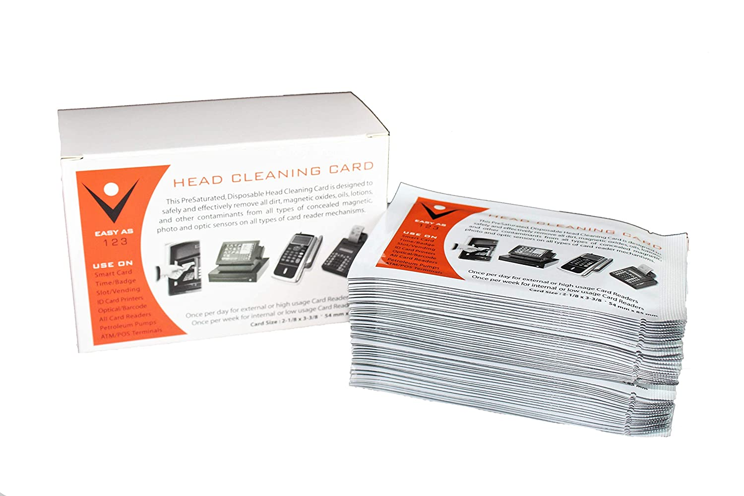 Alcohol Cleaning Cards, Card Reader Cleaning Card, POS Cleaning Card, Credit Card Cleaner, Magnetic Strip Cleaning Card (50/Box)