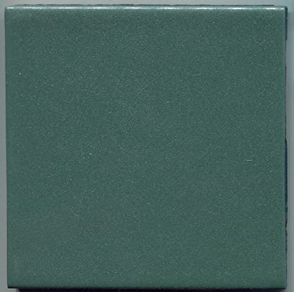 About 4x4 Ceramic Tile Iridescent Hunter Green Summitville Vintage