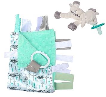 Amazon.com: Lovey bebé etiqueta Minky manta de punto Bundle ...