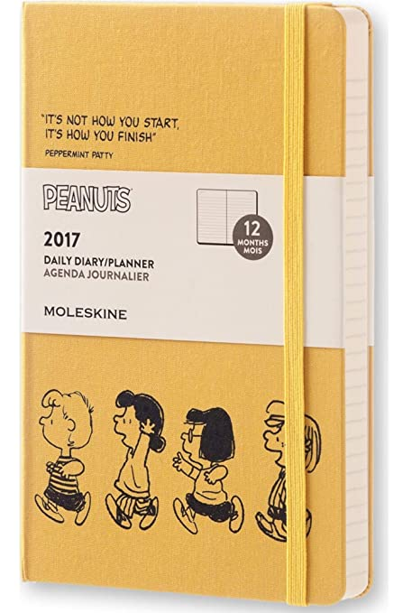 Moleskine DPE12DC3Y17 - Agenda semanal 18 meses, diseño Carlitos y Snoopy, edición limitada, L 13 x 21