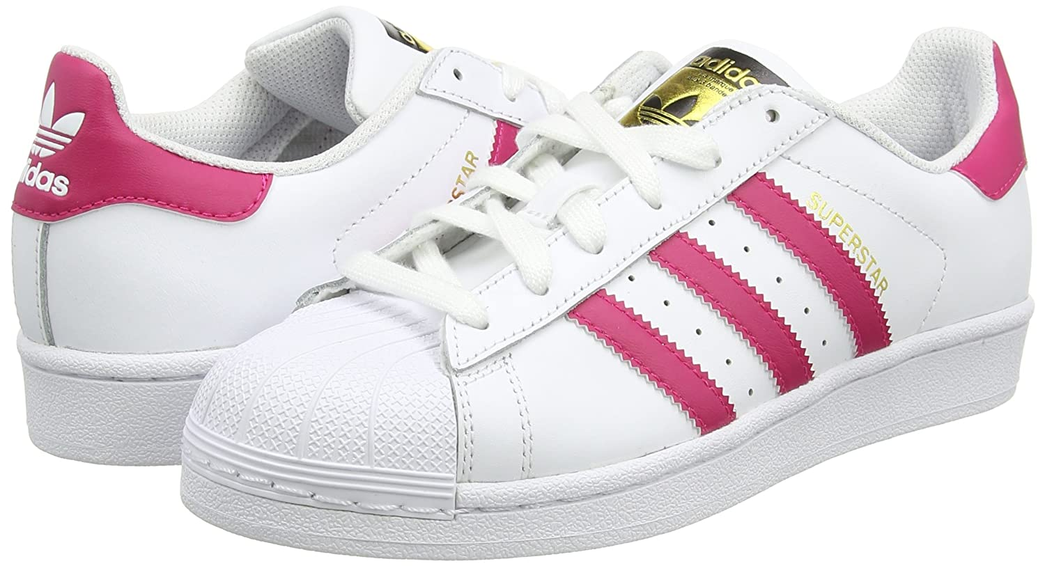 adidas Superstar Foundation, Unisex Kids\u0027 Low-Top Sneakers: Amazon.co.uk:  Shoes \u0026 Bags