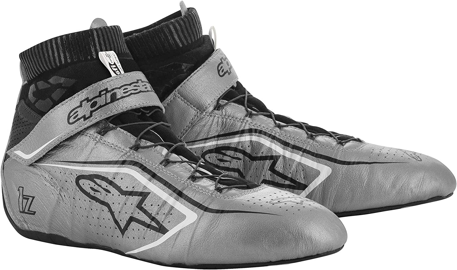 7.5 Alpinestars TECH-1 Z V2 SHOE US BLACK//WHITE//RED