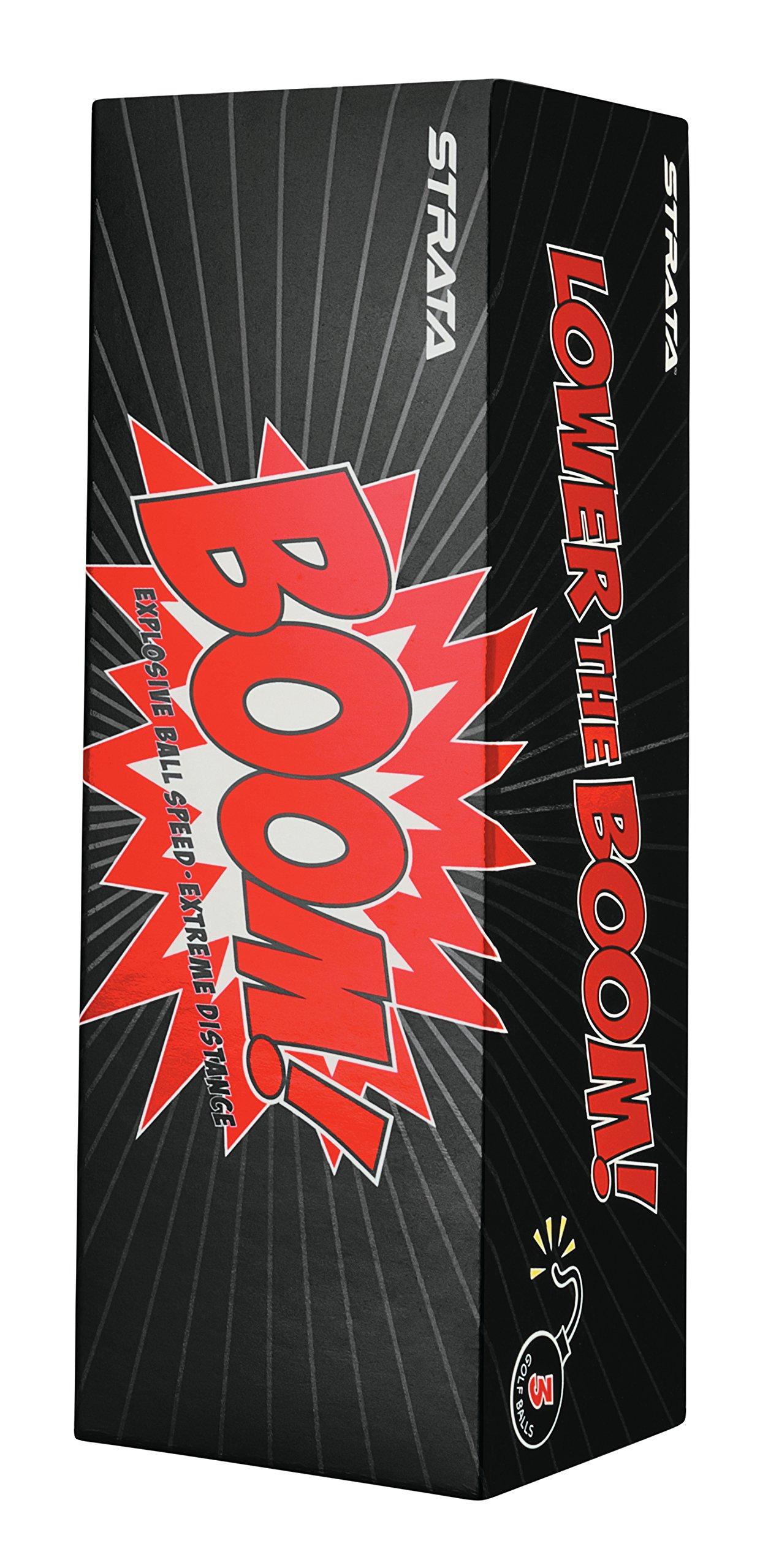 Strata Boom Golf Balls, (Two Dozen), White by Callaway