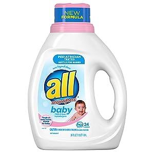 All Liquid Laundry Detergent, Gentle for Baby, 24 Loads, 36 fl oz