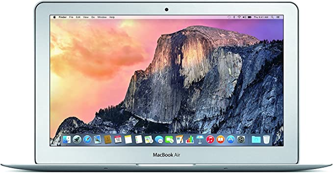 Apple MacBook Air MJVM2LL/A 11.6 Inch Laptop (Intel Core i5 Dual-Core 1.6GHz up to 2.7GHz, 4GB RAM, 128GB SSD, Wi-Fi, Bluetooth 4.0, Integrated Intel HD Graphics 6000, Mac OS) (Renewed) | Amazon