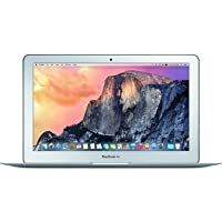 Apple MacBook Air MJVM2LL/A 11.6 Inch Laptop (Intel Core i5 Dual-Core 1.6GHz up to 2.7GHz, 4GB RAM, 128GB SSD, Wi-Fi, Bluetooth 4.0, Integrated Intel HD Graphics 6000, Mac OS) (Renewed)