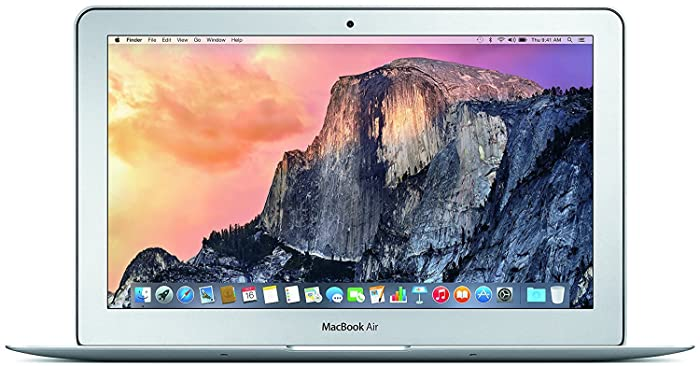 Apple MacBook Air MJVM2LL/A 11.6 Inch Laptop (Intel Core i5 Dual-Core 1.6GHz up to 2.7GHz, 4GB RAM, 128GB SSD, Wi-Fi, Bluetooth 4.0, Integrated Intel HD Graphics 6000, Mac OS) (Refurbished)