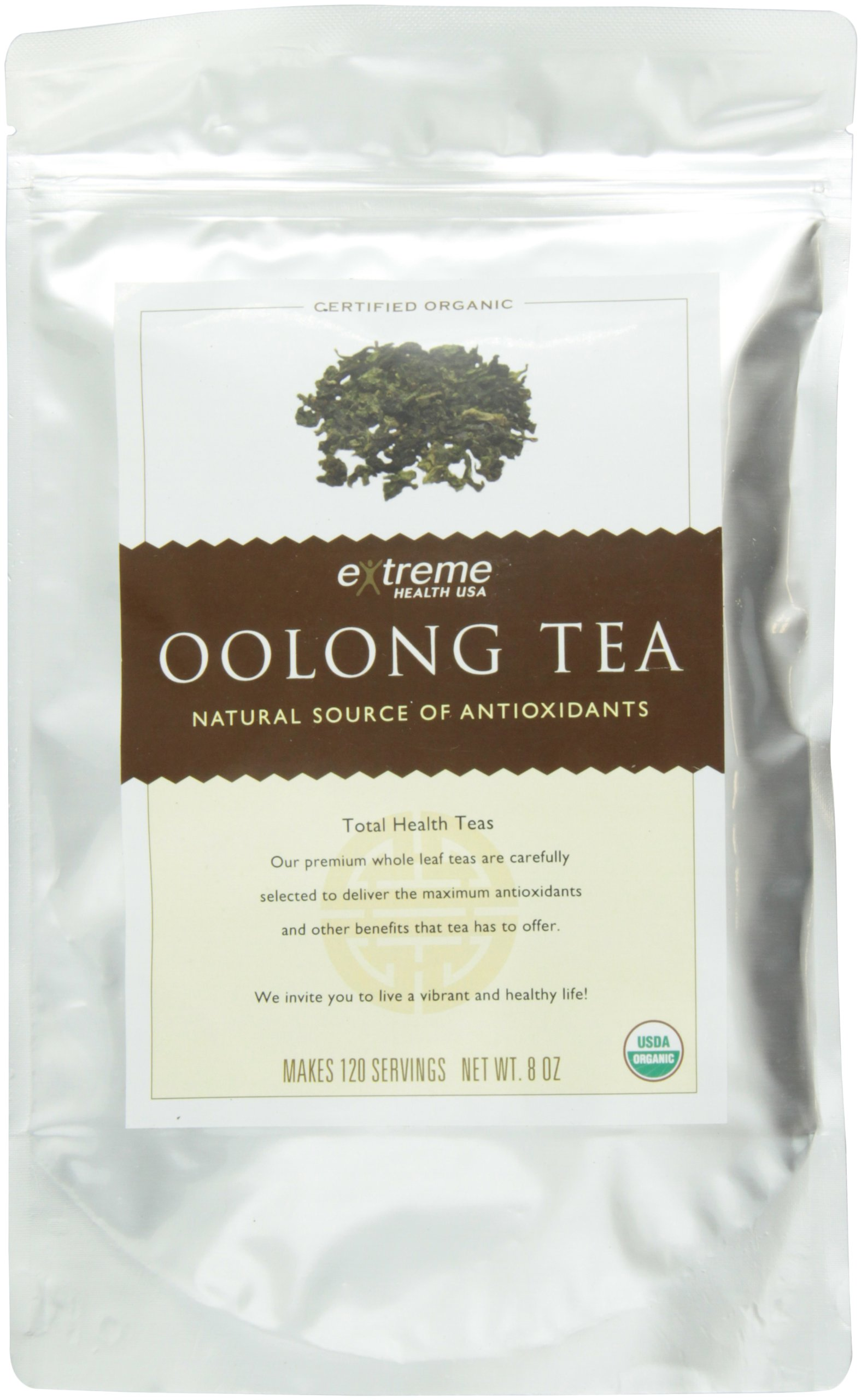 Extreme Health USA Extreme Health's Organic Oolong Tea, Total Health Loose Leaf Tea, 8-Ounce Pouches