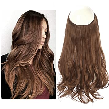 Short Synthetic Hair Extensions Halo Wire