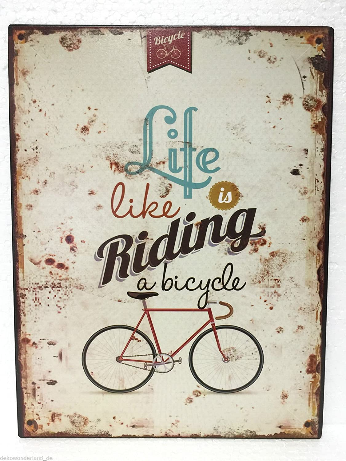 Cartel de chapa decorativa, Cartel Life is Like Riding A ...