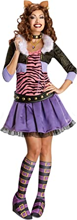 Monster High Clawdeen Wolf Kostuem.Amazon Com Secret Wishes Monster High Deluxe Adult Clawdeen Wolf Costume Clothing