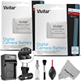Vivitar NB-6L / NB-6LH Battery and Charger Kit for CANON PowerShot SX510 HS, SX500 IS, SX700 HS, SX280 HS, SX260 HS, SX170 IS, Pack of 2