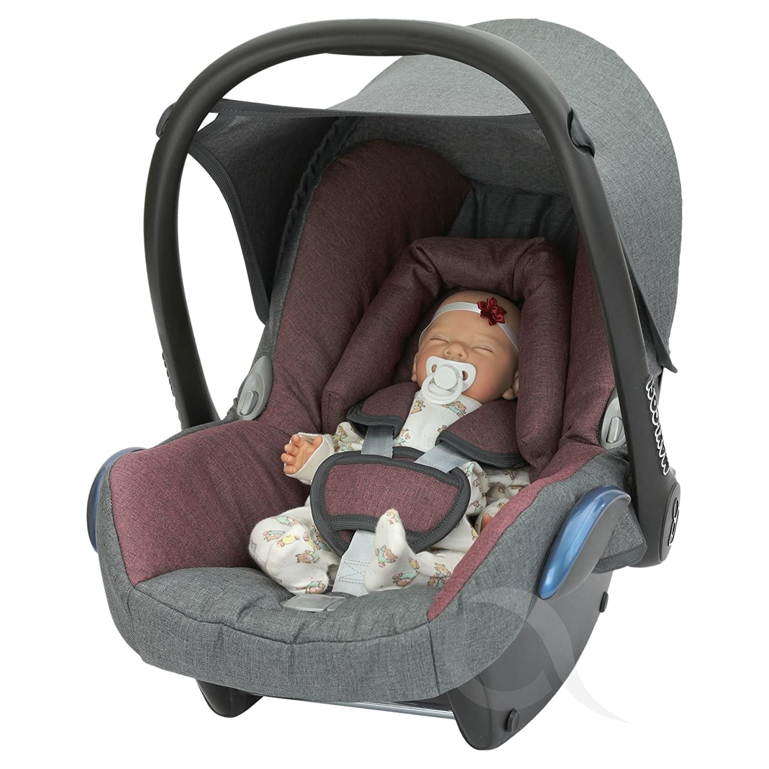 Replacement Seat Cover fits Maxi Cosi CabrioFix 0+ modern - maroon/charcoal OLO