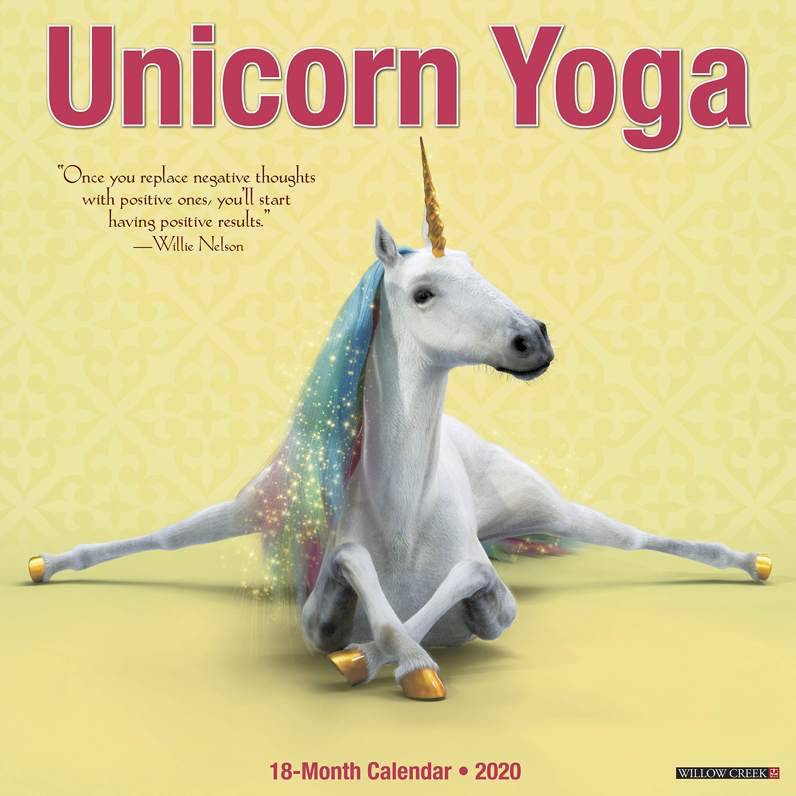 Unicorn Yoga 2020 Wall Calendar: Amazon.es: Willow Creek ...