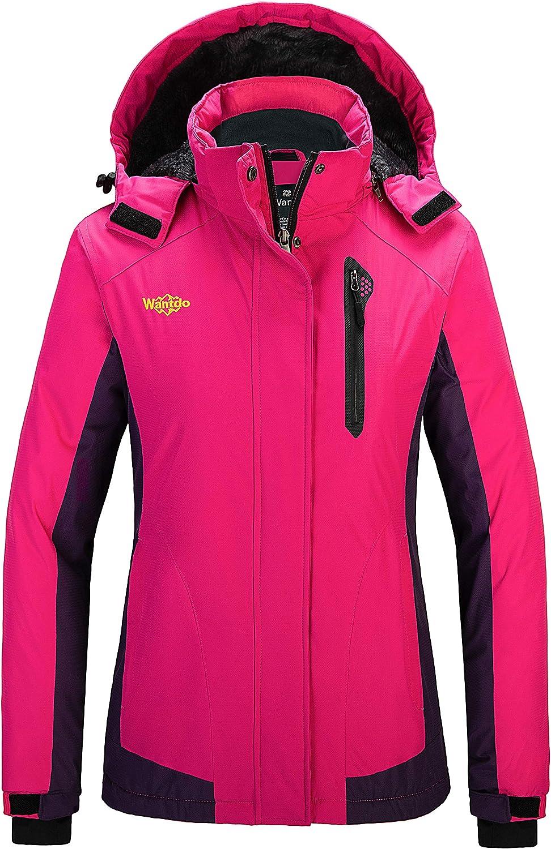Wantdo Women's Waterproof Ski Jacket Mountain Snow Coats Hooded Windproof Parka