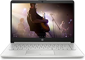 HP 14-inch Laptop, AMD Athlon Gold 3150U, 4 GB RAM, 128 GB SSD Storage, Windows 10 Home in S Mode (14-dk1022nr, Natural Silver)