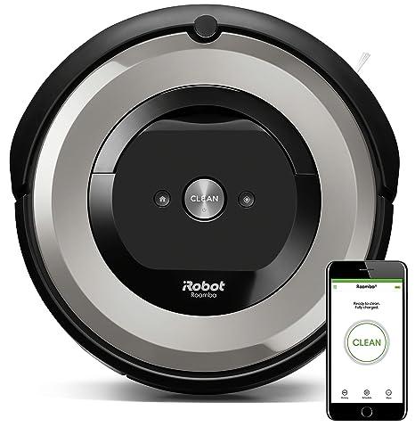 iRobot Roomba e5154 - Robot Aspirador Óptimo Mascotas, Succión 5 Veces Superior, Cepillos de Goma Antienredos, Sensores Dirt Detect, Suelos Duros y ...