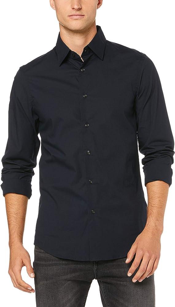 G-STAR RAW Core Shirt l Camisa, Azul (Mazarine Blue 4213), XX-Small para Hombre: Amazon.es: Ropa y accesorios