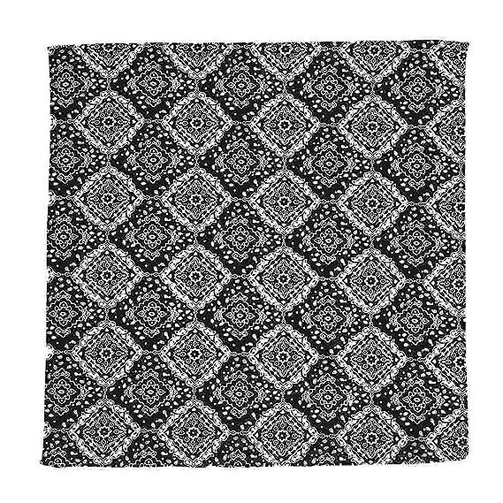 Bandana Paisley schwarz 100 /% Baumwolle 54 x 54 cm Kopftuch Halstuch Biker Tuch