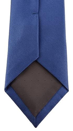 Tie Schlips schmale TigerTie Designer Krawatte in capriblau einfarbig Uni