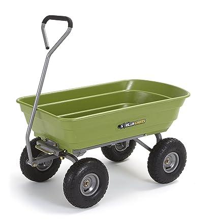 Captivating Gorilla Carts Poly Garden Dump Cart With Steel Frame And 10u0026quot; Pneumatic  Tires, 600