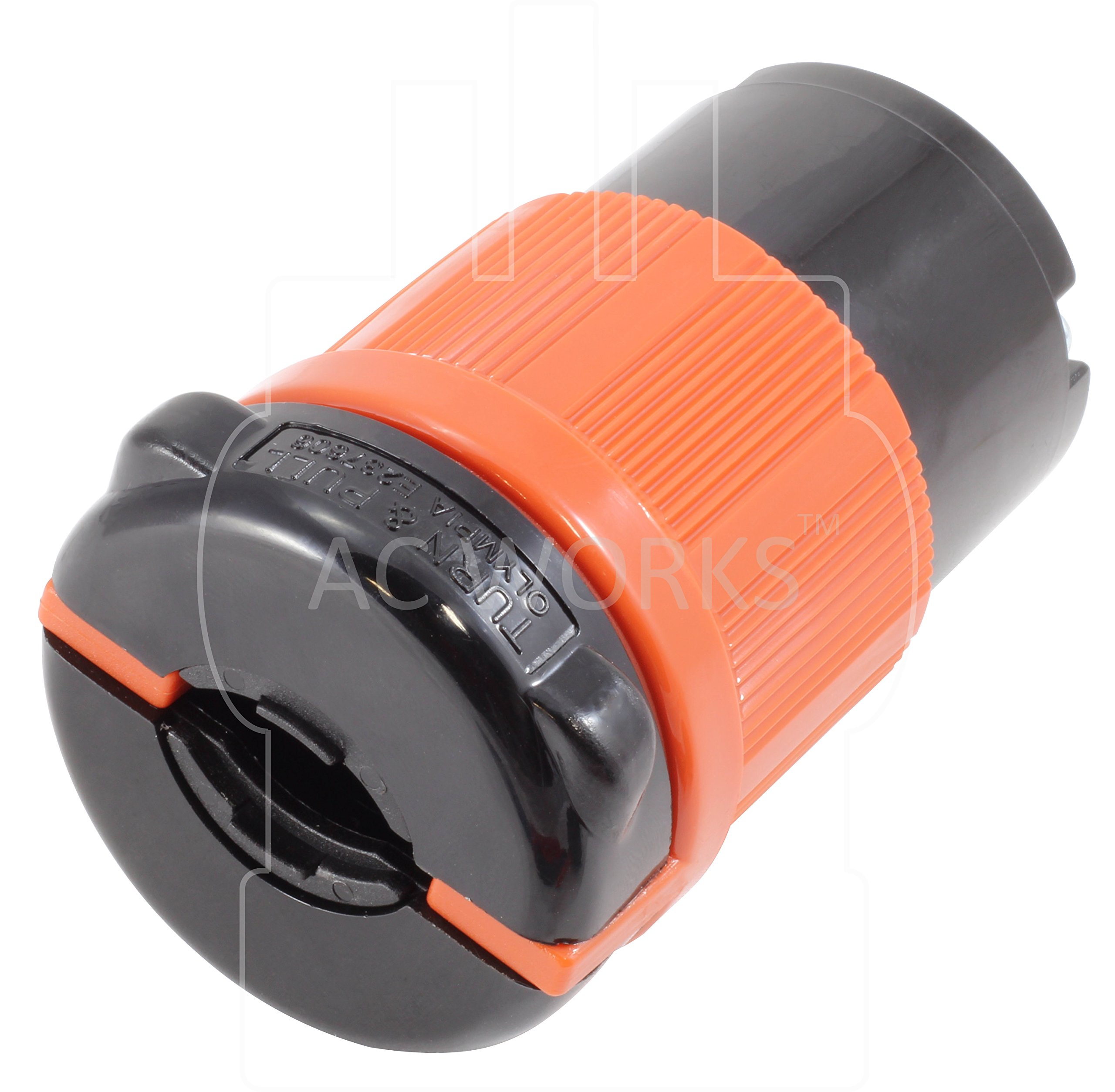 AC WORKS [ASL620R] NEMA L6-20R 20Amp 250Volt 3 Prong Locking Female Connector With UL, C-UL Approval by AC WORKS (Image #3)