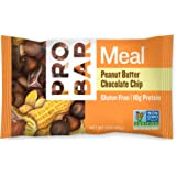 PROBAR - Meal Bar, Peanut Butter Chocolate Chip, 3 Oz, 12 Count - Plant-Based Whole Food Ingredients