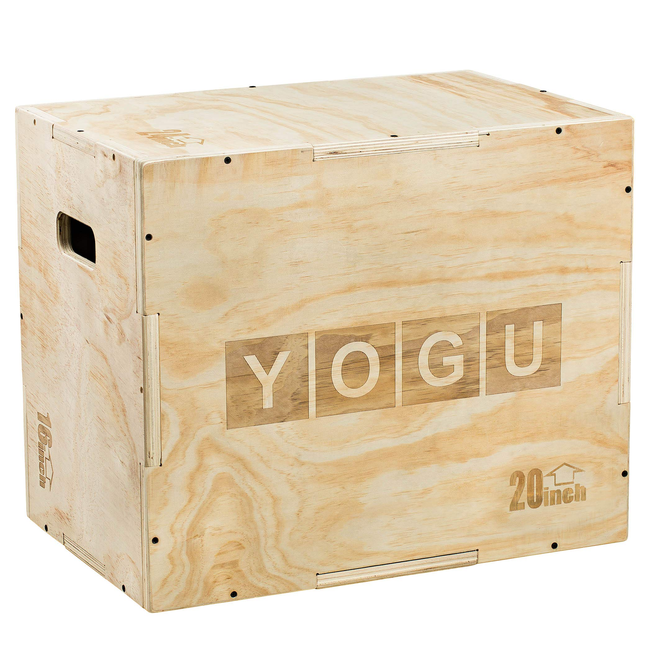 YOGU 3 in 1 Wood Plyometric Box (24/20/16)