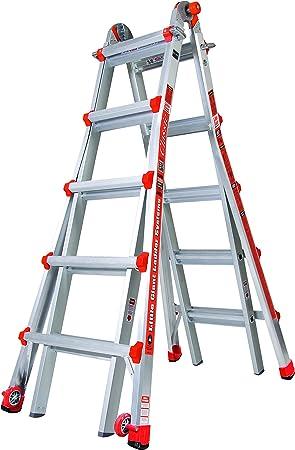 Little Giant 10103LGENA - Escalera clásica (aluminio, 157 x 66 x 20 cm): Amazon.es: Bricolaje y herramientas