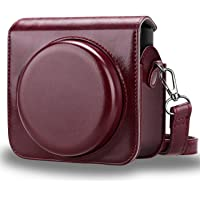 Fintie Protective Case for Fujifilm Instax Square SQ6 Instant Film Camera - Premium PU Leather Bag Cover with Removable/Adjustable Strap, Burgundy