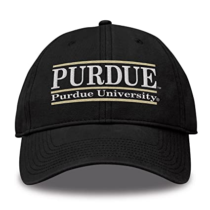Buy The Game NCAA Purdue Boilermakers Bar Design Classic Relaxed Twil Hat 781fd83af4d5