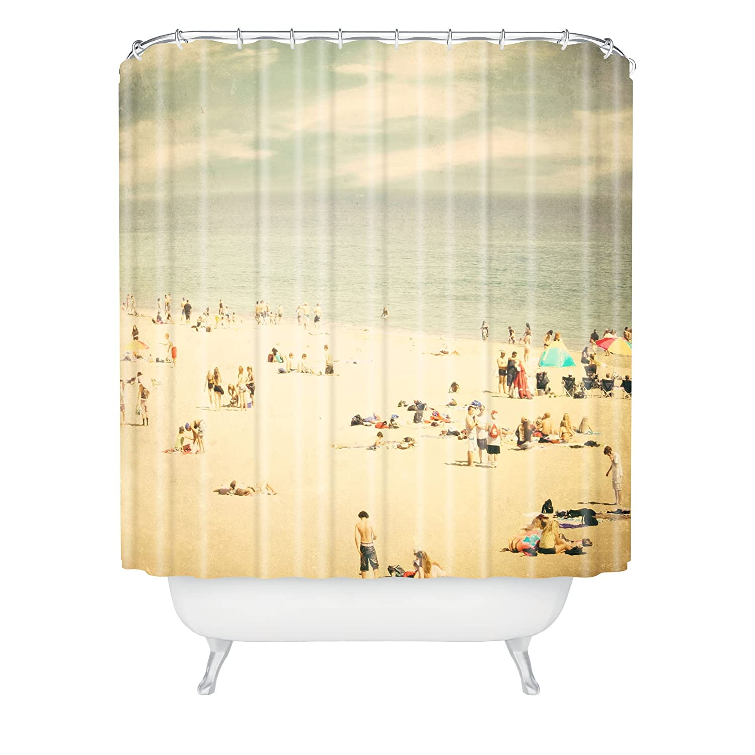 "Amazon.com: Deny Designs Shannon Clark Vintage Beach Shower Curtain, 69"" x  90"": Home & Kitchen"