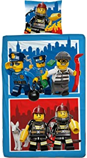 Lego City Figuren Set Kinder Jungen Bettwäsche Kinderbettwäsche