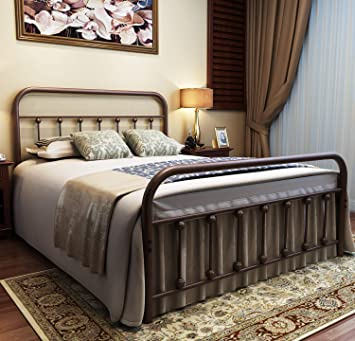 Amazon Com Urodecor Metal Bed Frame Full Size Headboard And