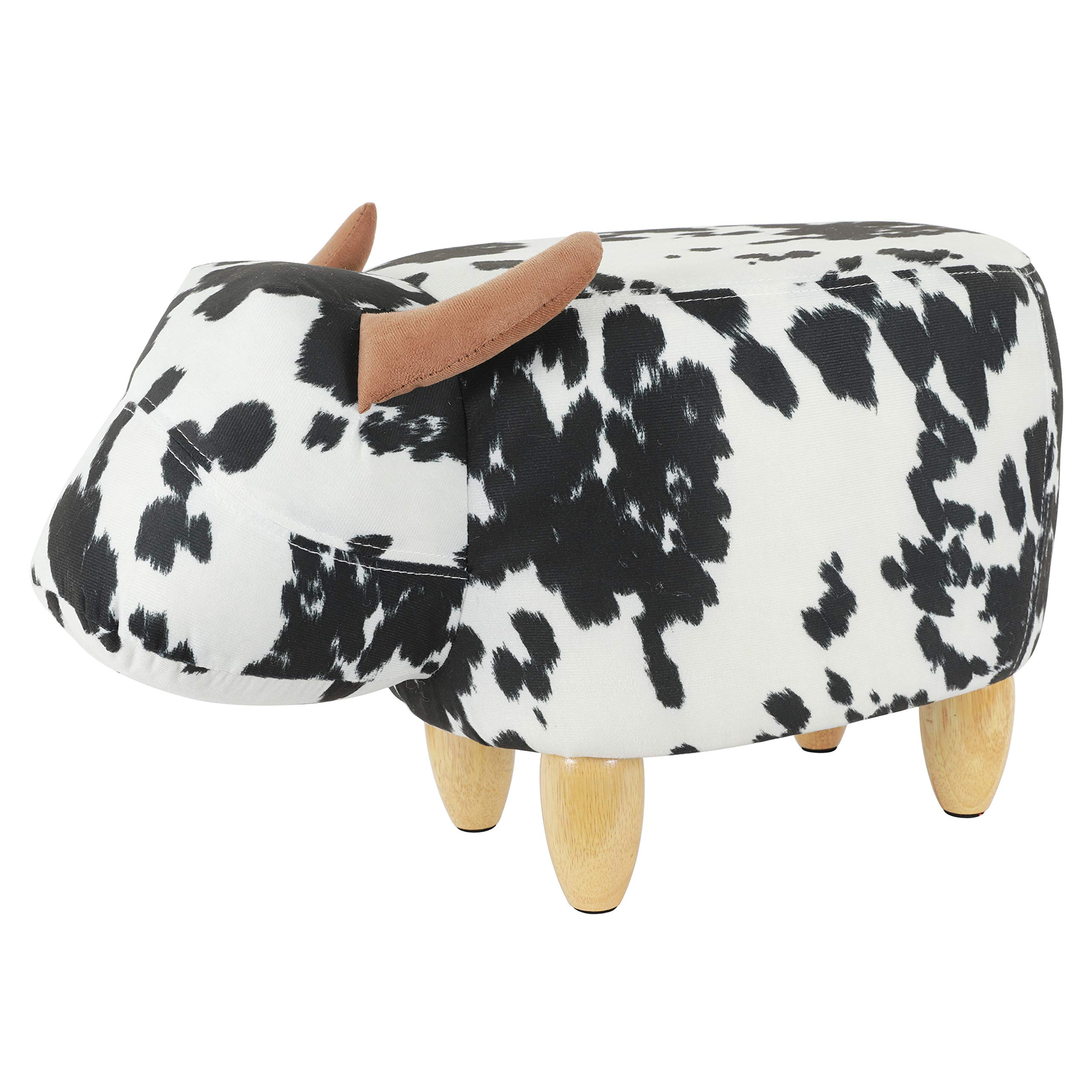 Decor Therapy Storage Stool, Cow by Decor Therapy