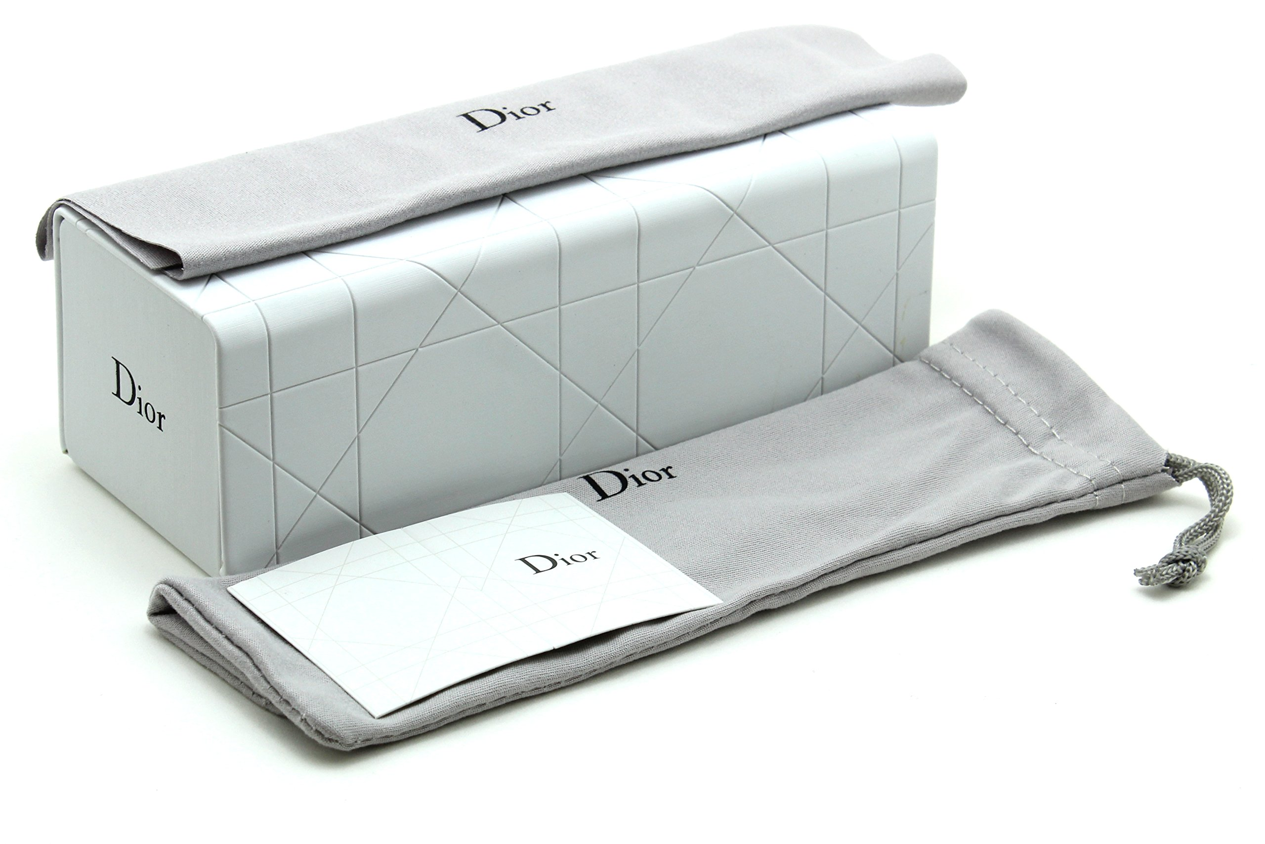 New Original Dior Sunglass Eyeglass Magnetic Hard Case w/Dior Cleaning Cloth and Soft Pouch Large by Dior