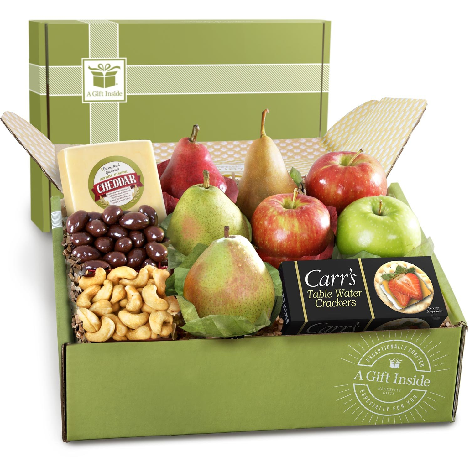 Grande Petaluma Cheese and Fruit Gift Box by Golden State Fruit (Image #1)
