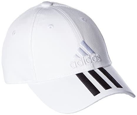 875d2906 Adidas Women's Cap BK0806 Training Six-Panel Classic 3-Stripe Cap (White/ Black): Amazon.in: Clothing & Accessories
