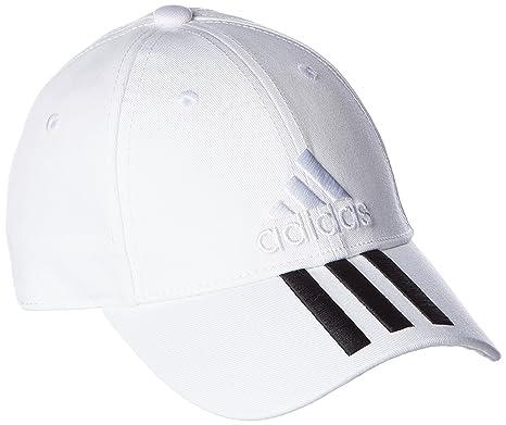 0f79af3fca219a Adidas Women's Cap BK0806 Training Six-Panel Classic 3-Stripe Cap (White/