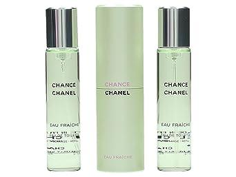 a85ab30396 Chance Eau Fraiche Eau de Toilette 3 x 20 ml Spray Donna da borsetta:  Amazon.it